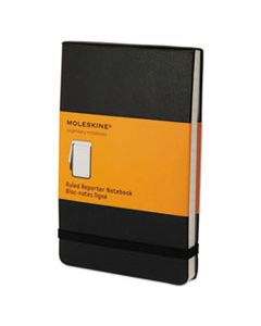 HBGQP511 REPORTER NOTEBOOK, NARROW RULE, BLACK COVER, 3.5 X 5.5, 192 SHEETS