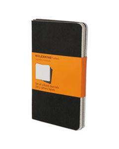 HBGQP311 CAHIER JOURNAL, NARROW RULE, BLACK COVER, 5.5 X 3.5, 64 SHEETS, 3/PACK