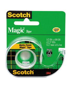 "MMM104 MAGIC TAPE IN HANDHELD DISPENSER, 1"" CORE, 0.5"" X 37.5 FT, CLEAR"