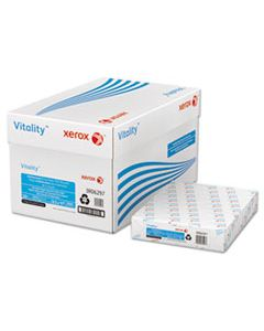 XER3R06297 VITALITY 30% RECYCLED PRINT PAPER, 92 BRIGHT, 3-HOLE, 20LB, 8.5 X 11, WHITE, 500/REAM