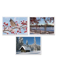 HFM702079 WINTER MULTI-PACK PLACEMATS, 10 X 14, THREE DIFFERENT SCENES, 1,000/CARTON