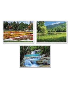 HFM702077 SUMMER MULTI-PACK PLACEMATS, 10 X 14, THREE DIFFERENT SCENES, 1,000/CARTON