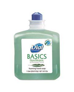 DIA06060CT BASICS FOAMING HAND WASH, REFILL, 1000ML, HONEYSUCKLE, 6/CARTON