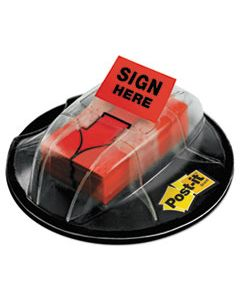 "MMM680HVSHR HIGH VOLUME FLAG DISPENSER, ""SIGN HERE"", RED, 200 FLAGS/DISPENSER"