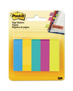 MMM6705AU PAGE FLAG MARKERS, ASSORTED COLORS,100 FLAGS/PAD, 5 PADS/PACK