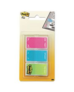 "MMM680STUDY STUDY MEMO PAGE FLAGS WITH MESSAGE, ASSORTED BRIGHT COLORS, 1"", 60/PACK"