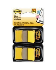 MMM680YW2 STANDARD PAGE FLAGS IN DISPENSER, YELLOW, 100 FLAGS/DISPENSER