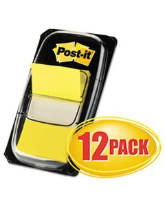 MMM680YW12 MARKING PAGE FLAGS IN DISPENSERS, YELLOW, 12 50-FLAG DISPENSERS/BOX
