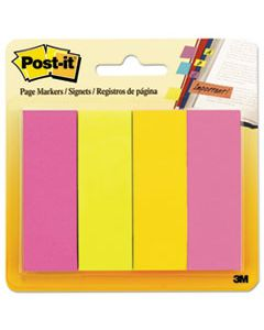 MMM6714AU PAGE FLAG MARKERS, ASSORTED BRIGHTS, 50 STRIPS/PAD, 4 PADS/PACK