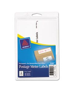 AVE05289 POSTAGE METER LABELS FOR PERSONAL POST OFFICE, 1.78 X 6, WHITE, 2/SHEET, 30 SHEETS/PACK