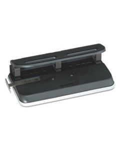 """SWI74150 24-SHEET EASY TOUCH TWO-TO-SEVEN-HOLE PRECISION-PIN PUNCH, 9/32"""" HOLES, BLACK"""
