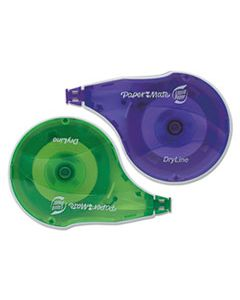 "PAP6137206 DRYLINE CORRECTION TAPE, NON-REFILLABLE, 1/6"" X 472"", 2/PACK"