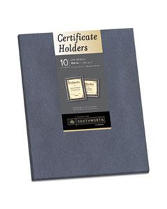 SOU98869 CERTIFICATE HOLDER, GRAY, 105LB LINEN STOCK, 12 X 9 1/2, 10/PACK