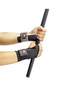 ALG721202 DUAL-FLEX WRIST SUPPORTS, MEDIUM, NYLON, BLACK