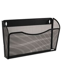 ROL21931 SINGLE POCKET WIRE MESH WALL FILE, LETTER, BLACK