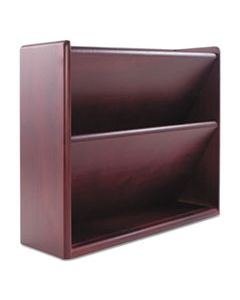 CVR09623 HARDWOOD DOUBLE WALL FILE, LETTER, TWO POCKET, MAHOGANY