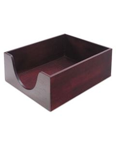 """CVR08213 DOUBLE-DEEP HARDWOOD STACKABLE DESK TRAYS, 1 SECTION, LETTER SIZE FILES, 10.13"""" X 12.63"""" X 5"""", MAHOGANY"""