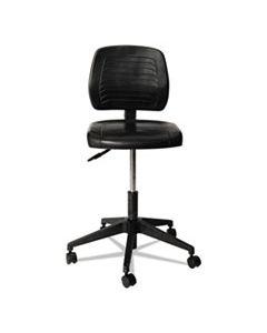 "ALECS616 ALERA WL SERIES WORKBENCH STOOL, 25"" SEAT HEIGHT, SUPPORTS UP TO 250 LBS., BLACK SEAT/BLACK BACK, BLACK BASE"
