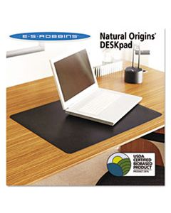 ESR120748 NATURAL ORIGINS DESK PAD, 24 X 19, MATTE, BLACK