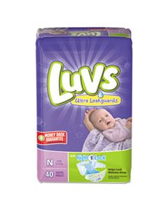 PGC85921CT DIAPERS WITH LEAKGUARD, NEWBORN: 4 LBS TO 10 LBS, 40/PACK, 4 PACKS/CARTON