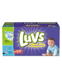 PGC85928CT DIAPERS WITH LEAKGUARD, SIZE 2: 12 LBS TO 18 LBS, 96/CARTON