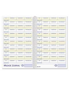ABFAFR12 VEHICLE MILEAGE AND EXPENSE BOOK, 5 1/4 X 8 1/2, 49 FORMS, 63 PAGES