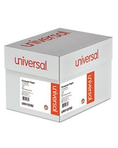 UNV15782 PRINTOUT PAPER, 1-PART, 20LB, 14.88 X 8.5, WHITE/GREEN BAR, 2, 600/CARTON