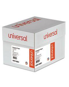UNV15851 PRINTOUT PAPER, 1-PART, 18LB, 14.88 X 11, WHITE/GREEN BAR, 2, 600/CARTON