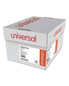 UNV15753 PRINTOUT PAPER, 2-PART, 15LB, 14.88 X 11, WHITE/GREEN BAR, 1, 650/CARTON