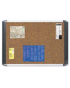 BVCMVI030501 TECH CORK BOARD, 24X36, SILVER/BLACK FRAME