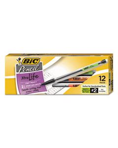 BICMP11 XTRA SMOOTH MECHANICAL PENCIL, 0.7 MM, HB (#2.5), BLACK LEAD, CLEAR BARREL, DOZEN