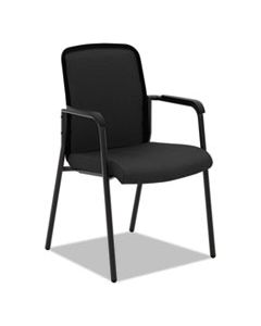 BSXVL518ES10 VL518 MESH BACK MULTI-PURPOSE CHAIR WITH ARMS, BLACK SEAT/BLACK BACK, BLACK BASE