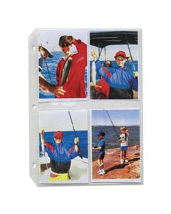 CLI52584 CLEAR PHOTO PAGES FOR 8, 3-1/2 X 5 PHOTOS, 3-HOLE PUNCHED, 11-1/4 X 8-1/8