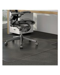 ALEMAT4553CLPL MODERATE USE STUDDED CHAIR MAT FOR LOW PILE CARPET, 45 X 53, WIDE LIPPED, CLEAR