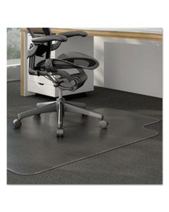 ALEMAT3648CLPL MODERATE USE STUDDED CHAIR MAT FOR LOW PILE CARPET, 36 X 48, LIPPED, CLEAR