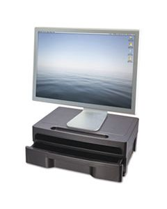 OIC22502 MONITOR STAND WITH DRAWER, 13 1/8 X 9 7/8 X 5, BLACK