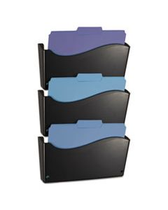 OIC22382 2200 SERIES WALL FILE SYSTEM, LETTER, BLACK, 3/PACK