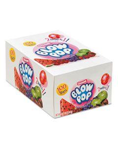 BLOW POPS, 0.8 OZ, ASSORTED FRUITY FLAVORS, 100/BOX