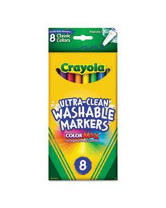 CYO587809 ULTRA-CLEAN WASHABLE MARKERS, FINE BULLET TIP, CLASSIC COLORS, 8/PACK