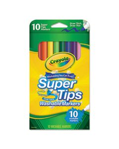 CYO588610 WASHABLE SUPER TIPS MARKERS, BROAD/FINE BULLET TIP, ASSORTED COLORS,