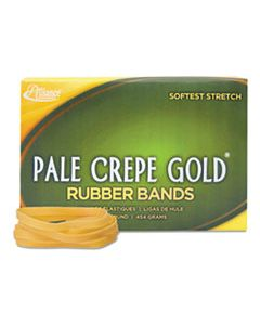 "ALL20645 PALE CREPE GOLD RUBBER BANDS, SIZE 64, 0.04"" GAUGE, CREPE, 1 LB BOX, 490/BOX"