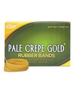 "ALL20325 PALE CREPE GOLD RUBBER BANDS, SIZE 32, 0.04"" GAUGE, CREPE, 1 LB BOX, 1,100/BOX"