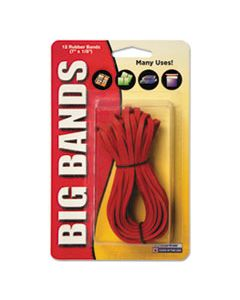 """ALL00700 BIG BANDS RUBBER BANDS, SIZE 117B, 0.06"""" GAUGE, RED, 12/PACK"""