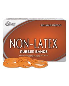 """ALL37546 NON-LATEX RUBBER BANDS, SIZE 54 (ASSORTED), 0.04"""" GAUGE, ORANGE, 1 LB BOX"""