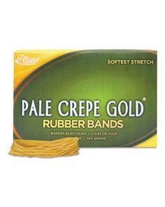 "ALL20195 PALE CREPE GOLD RUBBER BANDS, SIZE 19, 0.04"" GAUGE, CREPE, 1 LB BOX, 1,890/BOX"