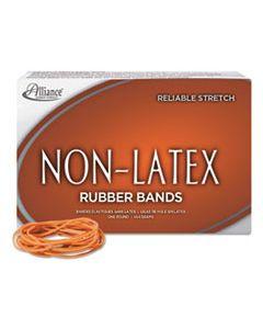 """ALL37196 NON-LATEX RUBBER BANDS, SIZE 19, 0.04"""" GAUGE, ORANGE, 1 LB BOX, 1,440/BOX"""
