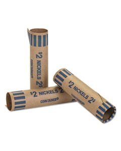 CTX20005 PREFORMED TUBULAR COIN WRAPPERS, NICKELS, $2, 1000 WRAPPERS/BOX