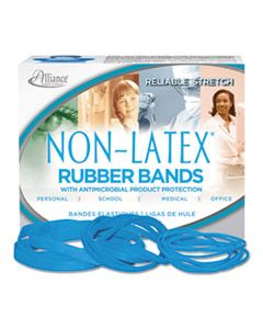 """ALL42179 ANTIMICROBIAL NON-LATEX RUBBER BANDS, SIZE 117B, 0.06"""" GAUGE, CYAN BLUE, 4 OZ BOX, 62/BOX"""