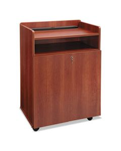 SAF8919CY EXECUTIVE MOBILE PRESENTATION STAND, 29.5W X 20.5D X 40.75H, CHERRY