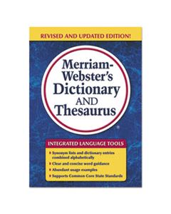 MER7326 MERRIAM-WEBSTER'S DICTIONARY AND THESAURUS, 992 PAGES
